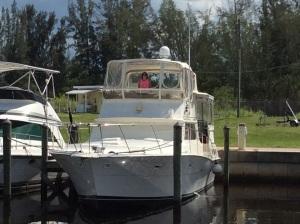 Claudia aboard in berth 18