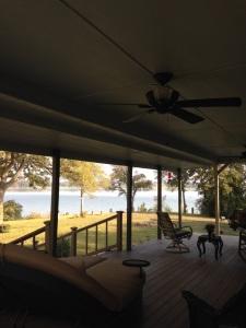 Front porch at the lake