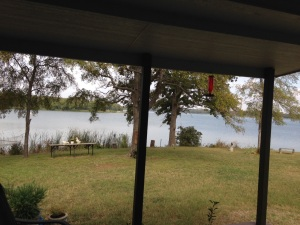 View from front porch at lake