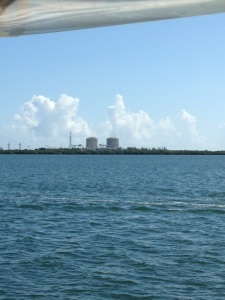 Cruising past St Lucie Nuclear Power Plant.