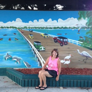 Art work in Cocoa. Many of the buildings show historic scenes