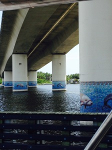 Nice tile work on bridge in Daytona