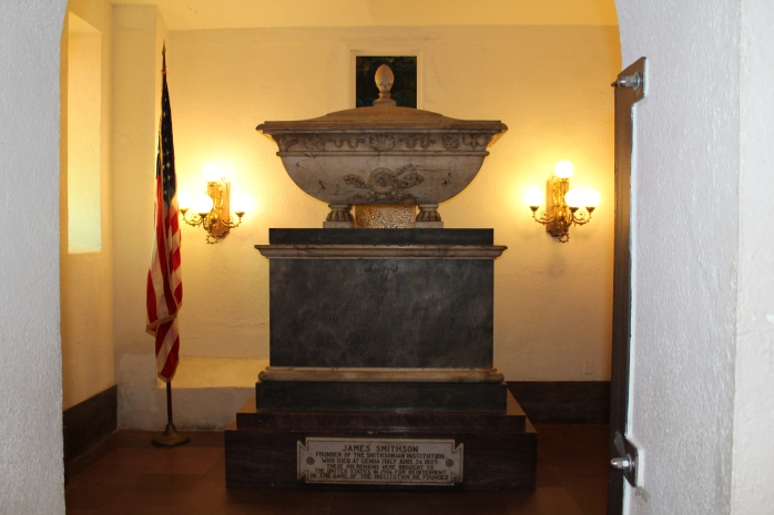 James Smithson's crypt in the Castle