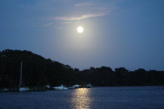 Moon rise in Ridout Creek