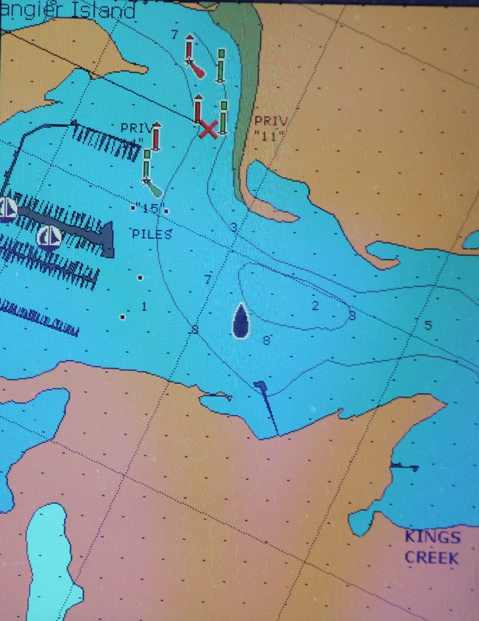 Anchor location in Kings Creek