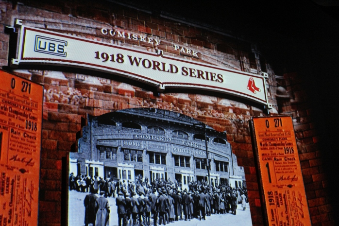 Location of 1918 World Series and birth of National Anthem at sporting events