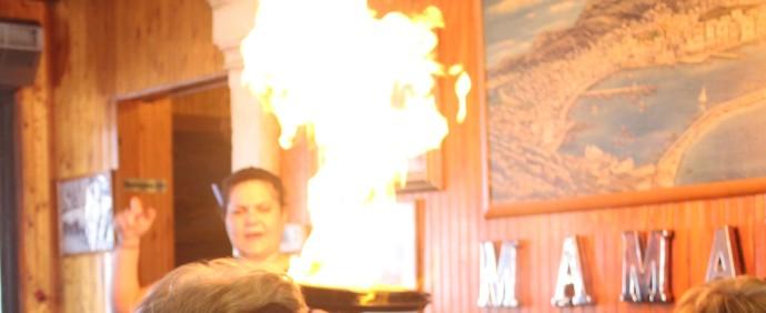6-mamas-greek-restaurant-flaming-goat-cheese
