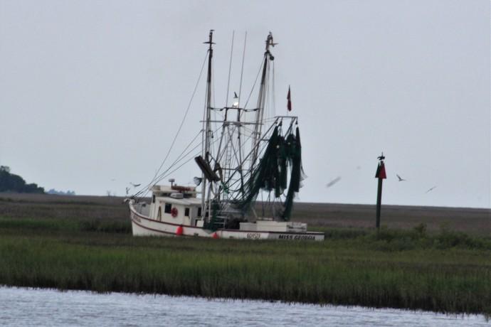 38 Shrimp boat in Town Creek