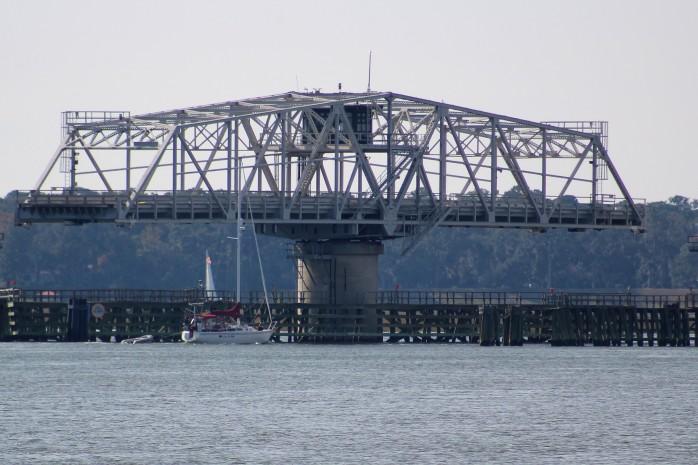 15 Ladies Island Swing Bridge