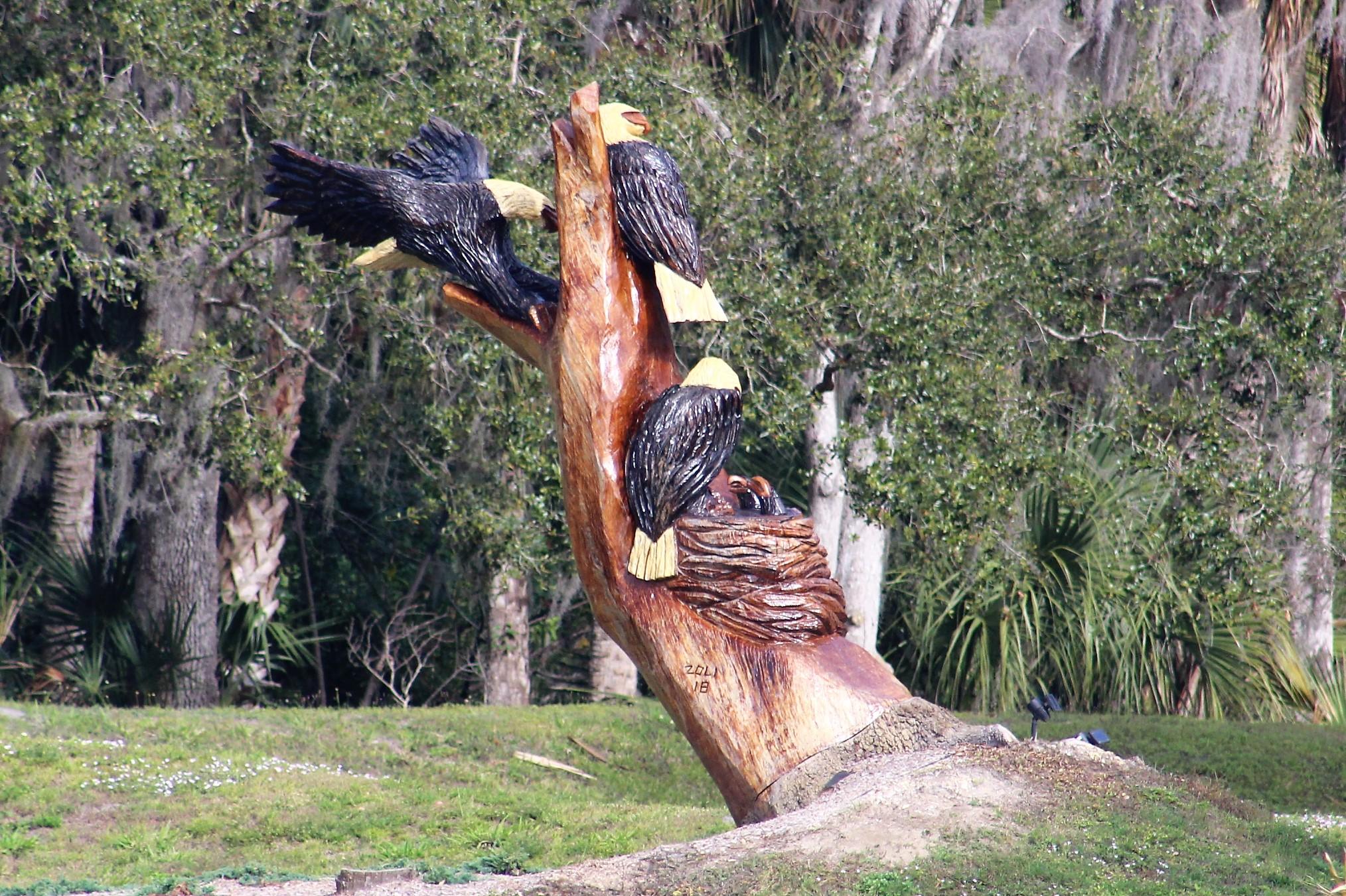 6 Bald Eagle Yard Art