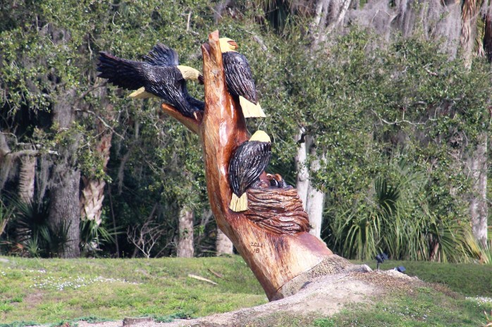 6 Bald Eagle Yard Art